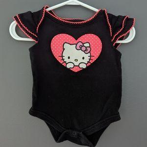 Hello Kitty black & pink onesie/bodysuit